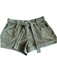 Dior Khaki Sponge Shorts - Multicolour