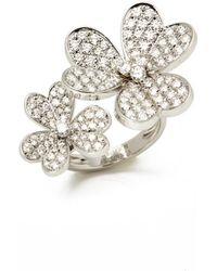 Van Cleef & Arpels - Pre-owned Fleurs White White Gold Rings - Lyst