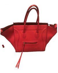 Celine Luggage Phantom Leder Handtaschen - Rot