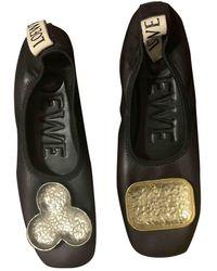 Loewe Ballerines en cuir - Noir