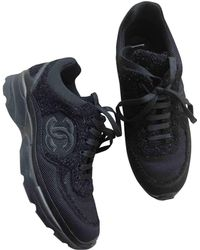 3adf71021 Chanel - Black Polyester Trainers - Lyst