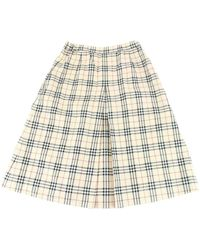 Burberry - Beige Sponge Skirt - Lyst