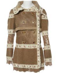 Dior - Vintage Beige Wool Coat - Lyst