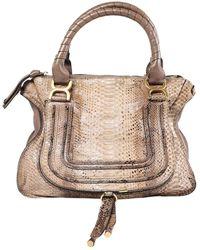 Chloé Marcie Brown Python Handbag