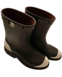 Chanel Wellington Boots - Black