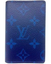 Louis Vuitton Marroquinería Pocket Organizer de Cuero - Azul