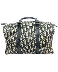 Dior Bowling Cloth Bowling Bag - Blue