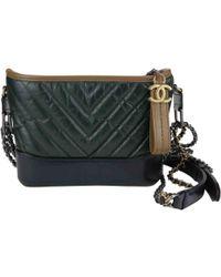 Chanel - Gabrielle Green Leather Handbag - Lyst