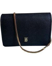Burberry Tb Bag Leder Cross Body Tashe - Blau