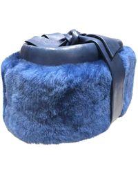 Dior Synthetikpelz Hüte - Blau