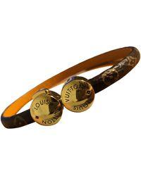 Louis Vuitton Bracelets Monogram en Cuir Marron