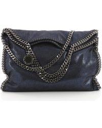 1dfe6373e348 Lyst - Stella Mccartney Falabella Messenger Bag Navy in Blue