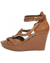 Hermès - Pre-owned Beige Leather Sandals - Lyst