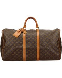 Louis Vuitton - Pre-owned Keepall Cloth 48h Bag - Lyst