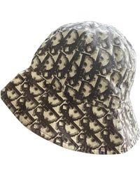 Dior Leinen Hüte - Braun