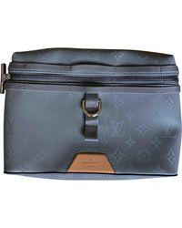 Louis Vuitton Messenger Monogram Pm Titanium Cloth Travel Bag - Blue