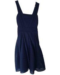 Maje Midi kleid - Blau