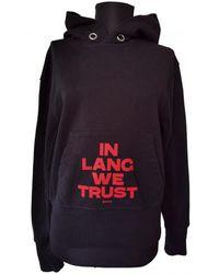 Helmut Lang Black Cotton Knitwear