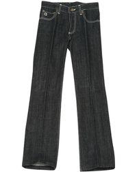 Louis Vuitton - Pre-owned Black Cotton Jeans - Lyst