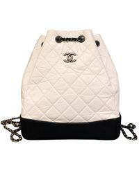Chanel Gabrielle White Leather Backpack
