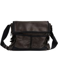 929832f922 Bottega Veneta Leather Messenger Bag in Brown for Men - Lyst