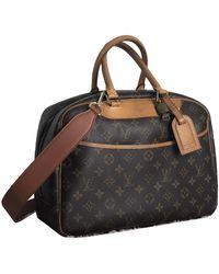 Louis Vuitton Deauville Leinen Handtaschen - Braun