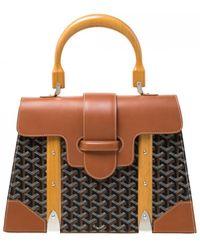 Goyard Saïgon Leather Handbag - Brown