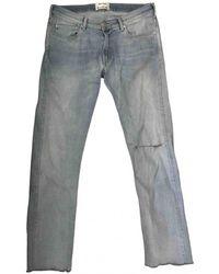 Acne Studios Jeans a sigaretta - Blu