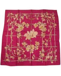 Hermès Foulards Carré Géant silk en Soie Multicolore - Rose