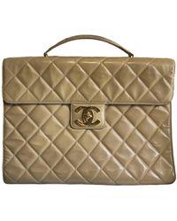 Chanel Borsa in Vernice - Neutro