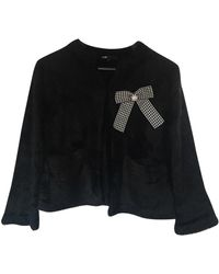 Maje Black Synthetic Knitwear