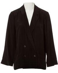 Chanel Chaqueta en seda negro
