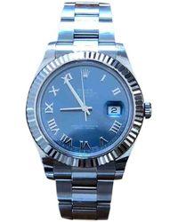Rolex Orologio in oro e acciaio blu DateJust II 41mm