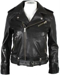 1af3740e0 Sandro Weapon Biker Jacket in Black - Lyst
