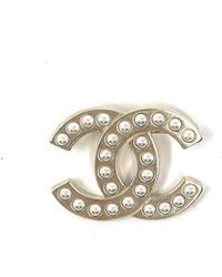 Chanel - Cc Broschen - Lyst