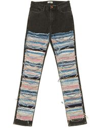 Acne Studios Jeans in cotone - elastan multicolore