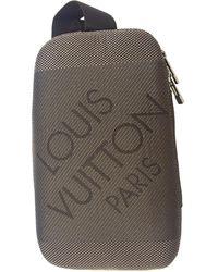 Louis Vuitton Leinen Taschen - Grau