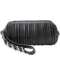 Miu Miu Madras Jewels Leather Buckle Clutch Bag in Red - Lyst 4ce935b494bac