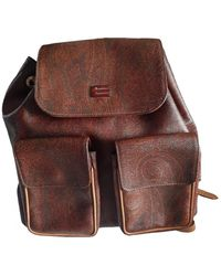 Etro Leather Backpack - Brown