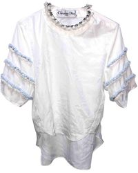 Dior White Silk Top