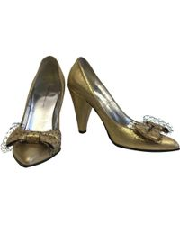 Marc By Marc Jacobs - Gold Patent Leather - Lyst