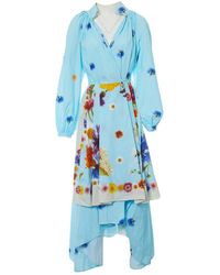 Natasha Zinko - Blue Cotton Dress - Lyst