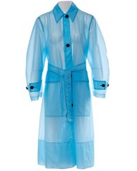 CALVIN KLEIN 205W39NYC - Blue Synthetic Coat - Lyst