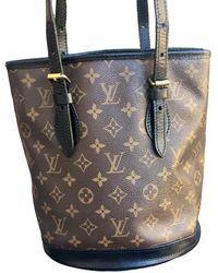 Louis Vuitton Bucket Cloth Handbag - Brown