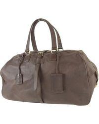 Jil Sander Leather Travel Bag - Brown