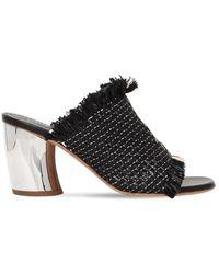 Proenza Schouler \n Black Leather Sandals