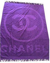 Chanel - Burgundy Cotton Textiles - Lyst