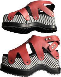 Proenza Schouler Leather Sandals - Red