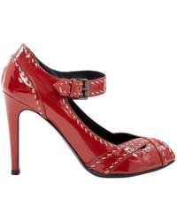 Bottega Veneta - Red Patent Leather - Lyst