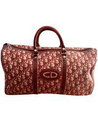 Dior Valigie in tela rosso
